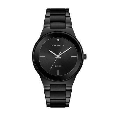 Caravelle Mens Black Bracelet Watch-45d108