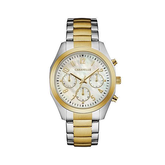 Caravelle Womens Two Tone Bracelet Watch-45l169