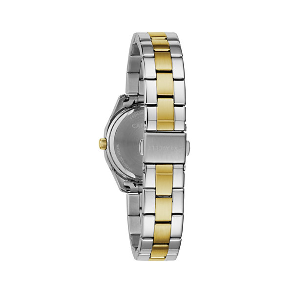 Caravelle Womens Two Tone Bracelet Watch-45m113