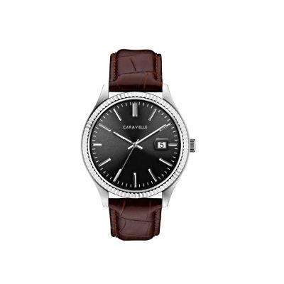 Caravelle Mens Brown Bracelet Watch-43b156
