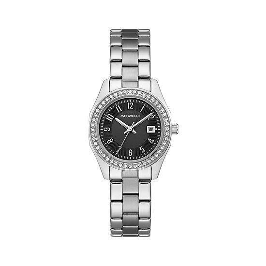 Caravelle Womens Silver Tone Bracelet Watch 43m121