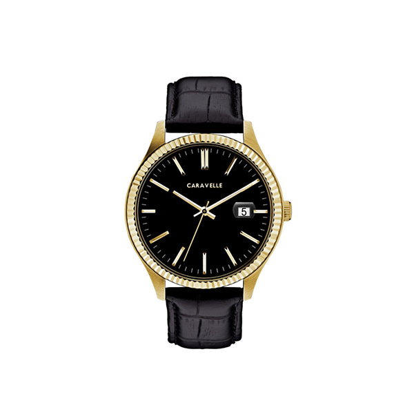 Caravelle Mens Black Strap Watch-44b118