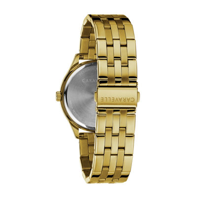 Caravelle Mens Gold Tone Bracelet Watch-44b121