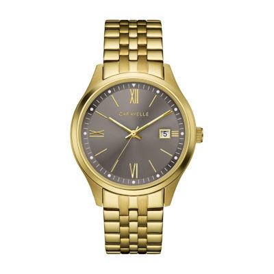 Caravelle Mens Gold Tone Bracelet Watch-44b122