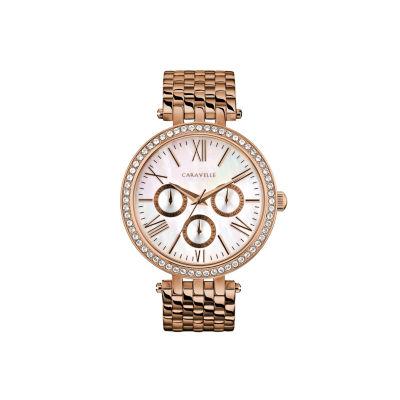 Caravelle Womens Rose Goldtone Bracelet Watch-44n111