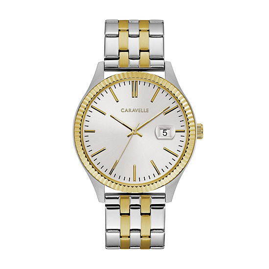 Caravelle Designed By Bulova Mens Two Tone Stainless Steel Bracelet Watch-45b148
