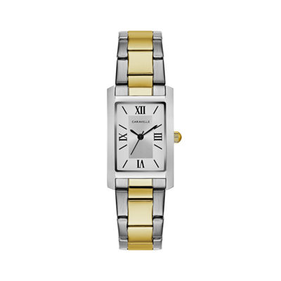 Caravelle Womens Two Tone Bracelet Watch-45l167