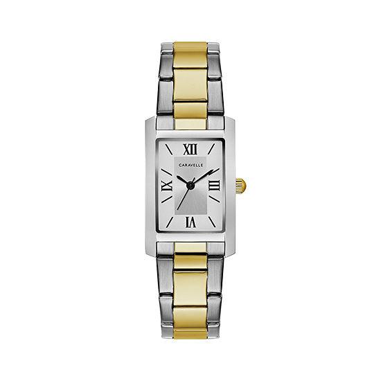 Caravelle Womens Two Tone Bracelet Watch 45l167