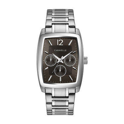 Caravelle Mens Silver Tone Bracelet Watch-43c118