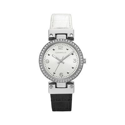 Caravelle Womens Two Tone Bracelet Watch-43l208