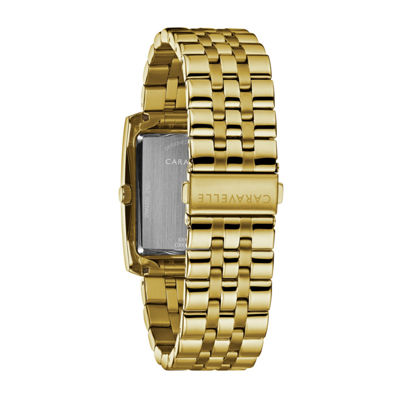 Caravelle Mens Gold Tone Bracelet Watch-44a110