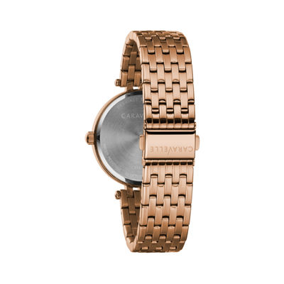 Caravelle Womens Rose Goldtone Bracelet Watch-44l236