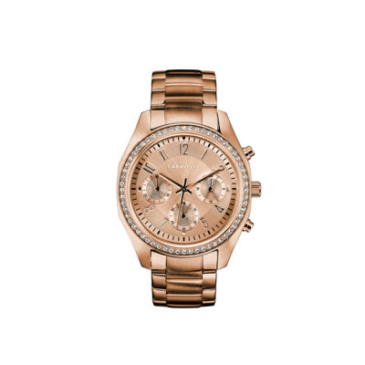 Caravelle Womens Rose Goldtone Bracelet Watch-44l240