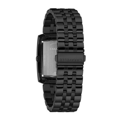 Caravelle Mens Black Bracelet Watch-45a140