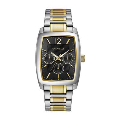 Caravelle Mens Two Tone Bracelet Watch-45c113