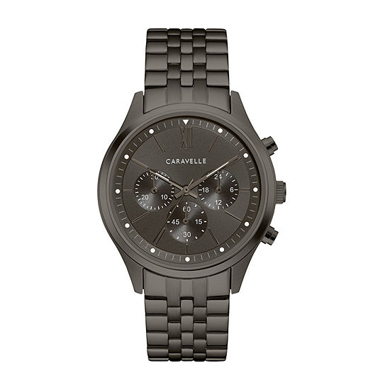 Caravelle Mens Chronograph Stainless Steel Bracelet Watch-45a141