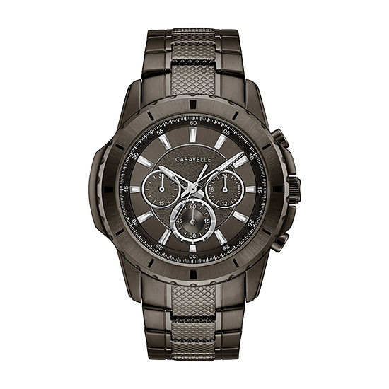 Caravelle Mens Chronograph Stainless Steel Bracelet Watch-45a142