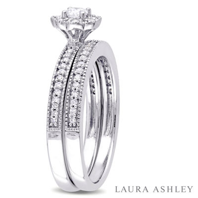Laura Asley Womens 3/8 CT. T.W. Genuine White Diamond 10K Gold Bridal Set