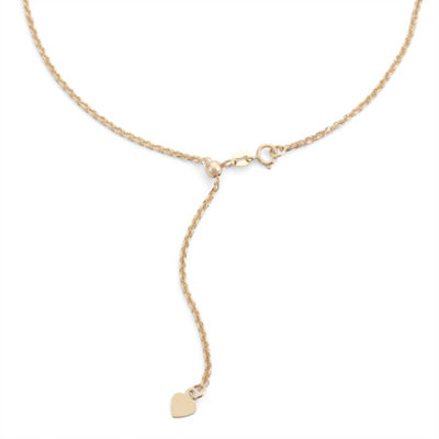 10K Gold Semisolid Wheat 22 Inch Chain Necklace