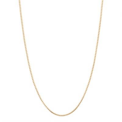 10K Gold Semisolid 22 Inch Chain Necklace