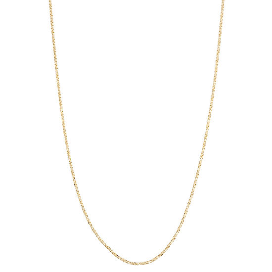 10k Gold 22 Inch Semisolid Box Chain Necklace