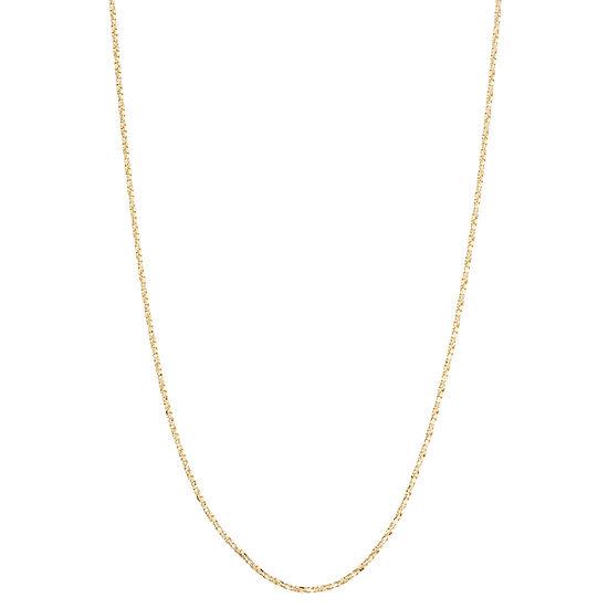 10K Gold 22 Inch Semisolid Box Chain Necklace