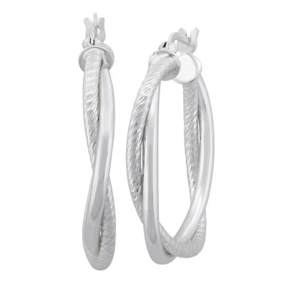 Sterling Silver 30.4mm Hoop Earrings