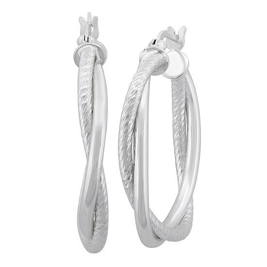 Sterling Silver 30.4mm Hoop Earrings