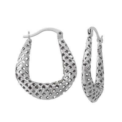 Sterling Silver 25.4mm Hoop Earrings