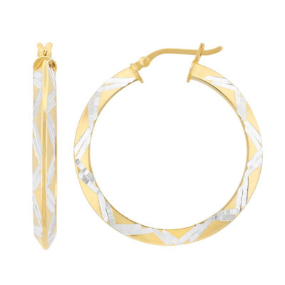 18K Gold Over Silver 25.4mm Hoop Earrings