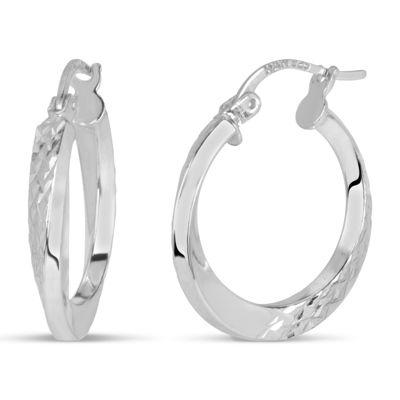 Sterling Silver 20.3mm Hoop Earrings