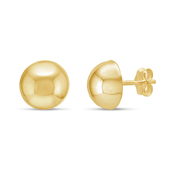 18K Gold Over Silver Stud Earrings