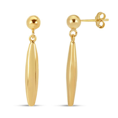 Not Applicable 18K Gold Over Silver Drop Earrings