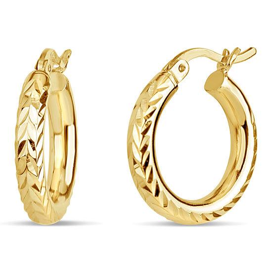 18K Gold Over Silver Hoop Earrings