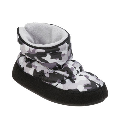 Dearfoam Camo Bootie Slippers - Boys