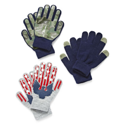 Minus Zero Boys Cold Weather Gloves 3 Pack - Boys 8-20