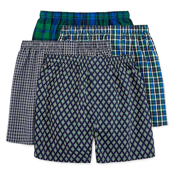 Stafford Woven 4-pc. Boxers