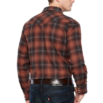 Ely Cattleman Brawny Flannel Snap - Big & Tall