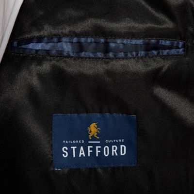 Stafford® Wool Blend Vented Back Topcoat - Big and Tall