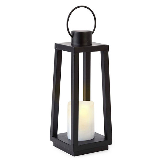 Outdoor Oasis Medium Black Solar Outdoor Lantern
