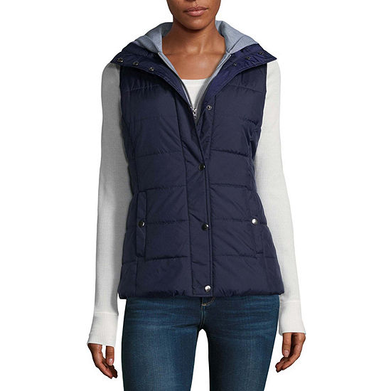 721f25fad0e Arizona Puffer Vest With Hood Juniors JCPenney