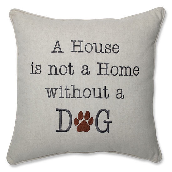 Pillow Perfect A House Is Not A Home Natural 16.5-inch Throw Pillow