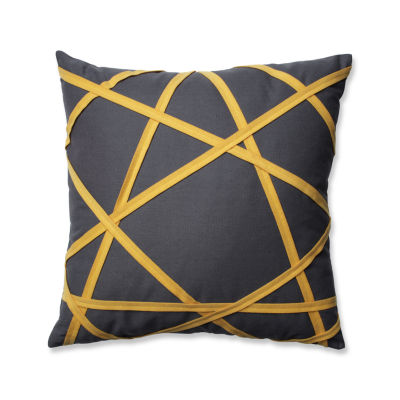 Pillow Perfect Carlyle Grey/Yellow 16.5-inch Throw Pillow