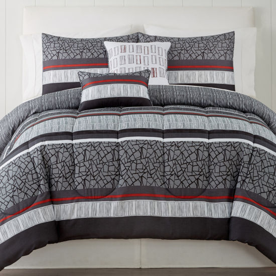 Granite 5-pc. Stripes Comforter Set