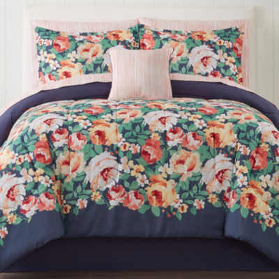 Home Expressions Primrose Floral Complete Bedding Set with Sheets