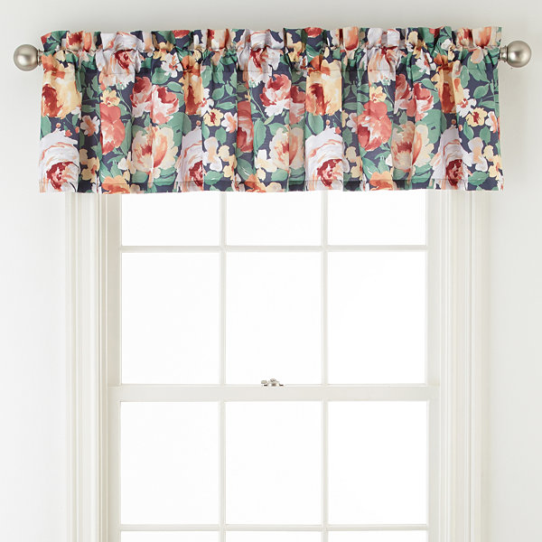 Home Expressions Primrose Rod-Pocket Tailored Valance