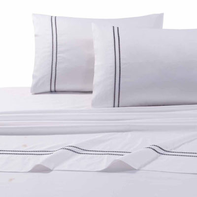 Tribeca Living Dot Embroidered 400 Thread Count Sateen Pillowcases