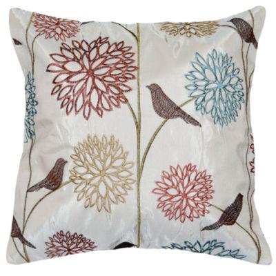Harlow Birds 18x18 Square Throw Pillow