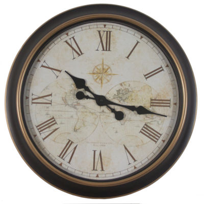 Décor Therapy Global Antique Map Clock