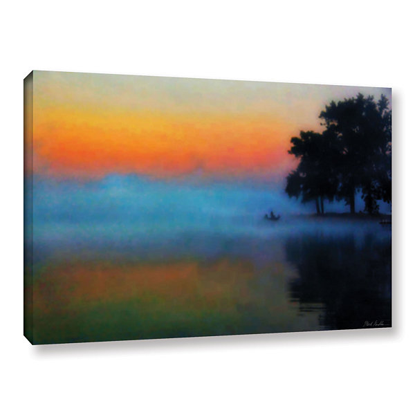 Brushtone Fishing In The Mist Gallery Wrapped Canvas Wall Art
